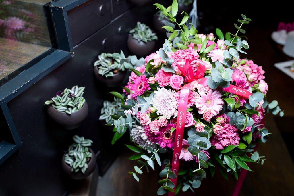 Красивое селфи с цветами 2